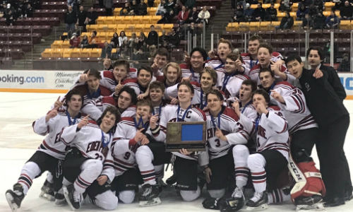 #3 Eden Prairie | Section 2AA Champion    Roster  |  Schedule / Results  |  Website  |  Media Guide    Team Twitter  |  School Twitter  |  Students Twitter  | Team FB |  School FB    Star Tribune Story   Quarterfinal result:  W, 3-2 (3OT)  vs. Lakeville South  Semifinal result:  W, 4-3  vs. Blaine