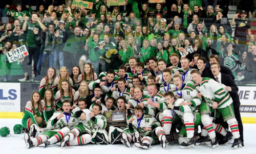 #3 East Grand Forks | Section 8A Champion    Roster  |  Schedule / Results  |  Website  |  Media Guide    Team Twitter  |  School Twitter  |  Students Twitter  |  Team FB  |  School FB    Grand Forks Herald Story   Quarterfinal result:  W, 5-2  vs. Minnesota River  Semifinal result:  L, 2-6  vs. St. Cloud Cathedral