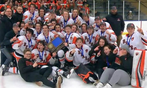 White Bear Lake | Section 4AA Champion    Roster  |  Schedule / Results  |  Website  |  Media Guide    Team Twitter  |  School Twitter  |  Students Twitter  | Team FB |  School FB    Pioneer Press Story   Quarterfinal result:  L, 2-4  vs. Blaine  Consolation Semifinal result:  L, 3-5  vs. Lakeville South