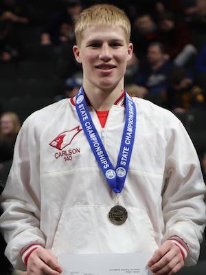 Class AAA 145 Champion   Cael Carlson  Willmar