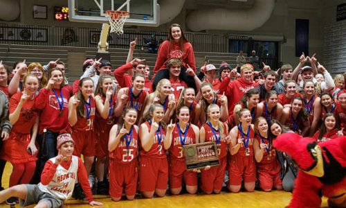 Redwood Valley | Section 3AA Champion    Roster  |  Schedule / Results  |  Website  |  Media Guide   Team Twitter | School Twitter | Students Twitter | Team FB |  School FB   Quarterfinal result:  L, 74-75  vs. Roseau  Consolation Semifinal result: 38-41 vs. Proctor -  Box Score
