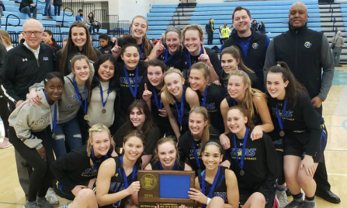 #4 Holy Angels | Section 3AAA Champion    Roster  |  Schedule / Results  |  Website  |  Media Guide    Team Twitter  |  School Twitter  |  Students Twitter  |  Team FB  |  School FB   Quarterfinal result:  W, 58-57  vs. Fergus Falls  Semifinal Result: 59-61 vs DeLaSalle -  Box Score