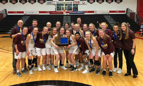 #5 Fergus Falls | Section 8AAA Champion    Roster  |  Schedule / Results  | Website |  Media Guide   Team Twitter |  School Twitter  | Students Twitter | Team FB |  School FB    FF Daily Journal Story   Quarterfinal result:  L, 57-58  vs. Holy Angels  Consolation Semifinal result: 58-63 vs. Hibbing -  Box Score
