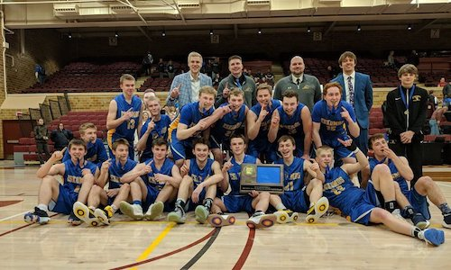 Esko | Section 7AA Champion    Roster | Schedule / Results  |  Website  |  Media Guide   Team Twitter |  School Twitter  |  Students Twitter  | Team FB |  School FB  |  Instagram    Duluth News Story    Quarterfinal result: 53-61 loss vs  Minneapolis North -  BOX SCORE    Consolation Semifinal result: 66-56 win vs. Redwood Valley    Consolation Championship result: 57-66 loss vs Melrose Area -    BOX SCORE