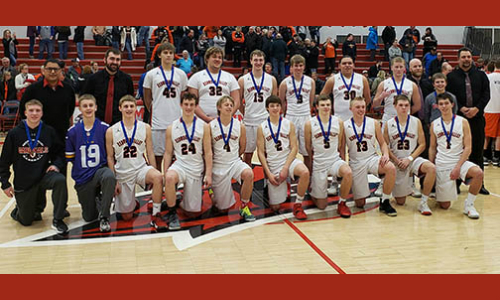 Redwood Valley | Section 3AA Champion    Roster | Schedule / Results  |  Website  |  Media Guide   Team Twitter |  School Twitter  |  Alumni Twitter  |  KLGR FB  |  School FB    Quarterfinal result:  58-73  loss vs  Redwood Valley -  BOX SCORE    Consolation Semifinal result: 56-66 loss vs. Esko