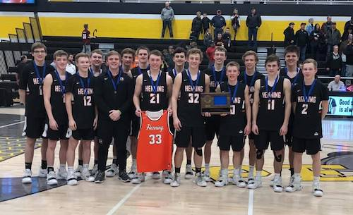 #4 Henning | Section 6A Champion    Roster | Schedule / Results  | Website |  Media Guide   Team Twitter |  School Twitter  | Students Twitter |  Newspaper FB  |  School FB    Echo Press Story    Quarterfinal result: 63-56 win vs. CHOF -   BOX SCORE  |  WPJ Story   Semifinal result: 67-34 win vs Spring Grove -  BOX SCORE  |  WPJ Story   Championship result: 67-42 win vs North Woods -  BOX SCORE