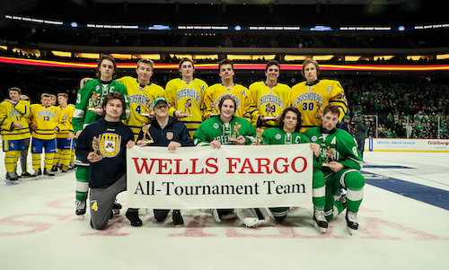 2018-19 Boys Hockey Class A All-Tournament Team    Names of team members    Photo Credit:    MN Prep Photo