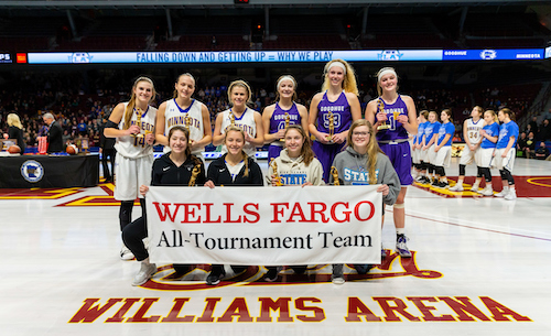 2018-19 Class A Girls Basketball All-Tournament Team  Photo credit:  MN Prep Photo
