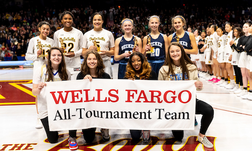 2018-19 Class AAA Girls Basketball All-Tournament Team  Photo credit:  MN Prep Photo