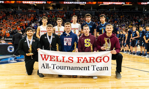 2018-19 Boys Basketball Class A All-Tournament Team    Names of team members   Photo credit:  MN Prep Photo