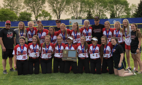 #1 Mankato West | Section 2AAA Champion   Roster  |  Schedule / Results  |  Website  |  Media Guide    Team Twitter  |  School Twitter  |  Students Twitter  | Team FB | School FB   Mankato Free Press Story   Quarterfinal Result:  W, 16-3  vs. Visitation  Semifinal Result: W, 12-2 vs. Cloquet