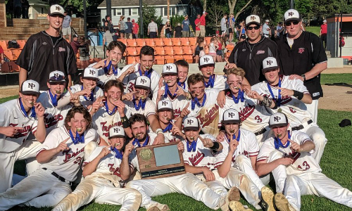 New Prague | Section 1AAAA Champion    Roster  |  Schedule / Results  |  Website  |  Media Guide    Team Twitter  |  School Twitter  | Students Twitter | Team FB |  School FB   Quarterfinal: Won 7-6 vs. Blaine |  Box Score   Semifinal: Won 12-7 vs Rogers |  Box Score