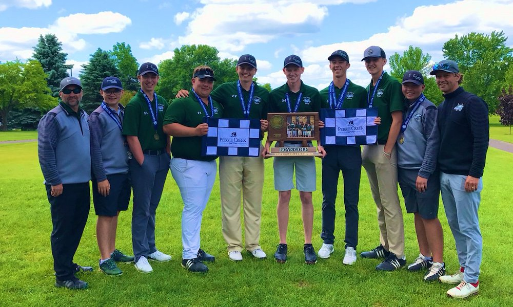 2018-19 Boys Golf  Class A Team State Champion  Community Christian (Willmar)  Photo credit: West Central Tribune |  Story
