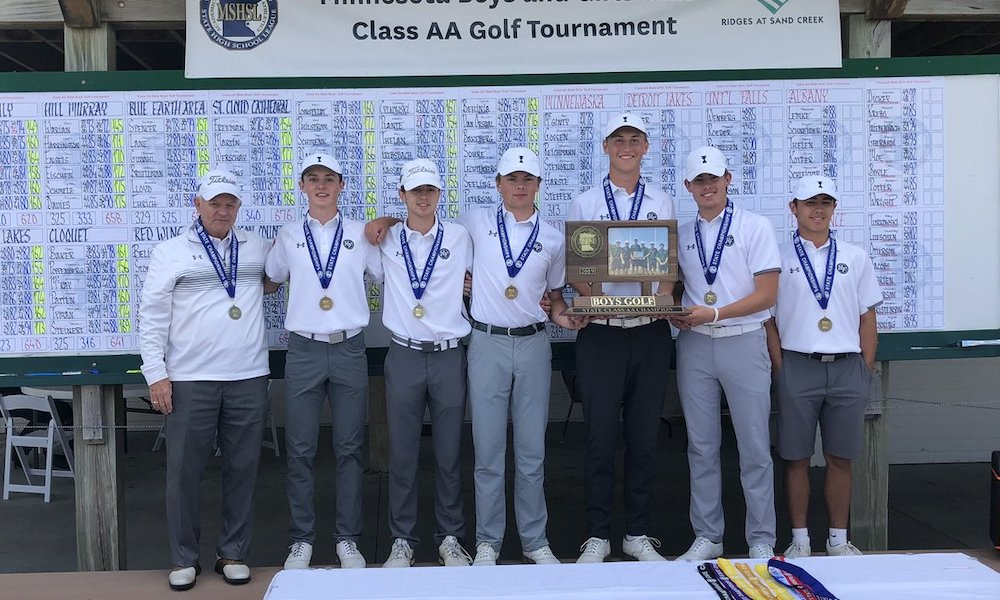 2018-19 Boys Golf  Class AA Team State Champion  Holy Family Catholic (Victoria)