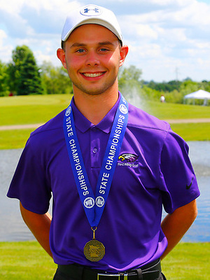 2018-19 Boys Golf  Class AA Individual State Champion  Cecil Belisle  Red Wing  Photo Credit: Republican Eagle  (Story)