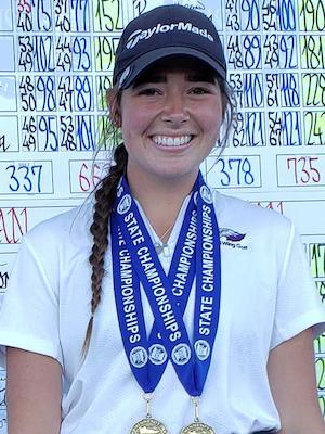 2018-19 Girls Golf  Class AA Individual State Champion  Sophia Yoemans  Red Wing  Photo credit:  MInnesota Golf Association  |  Republican Eagle Story