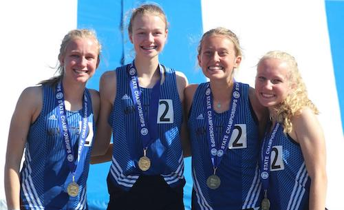 2018-19 MN Track & Field    4X800 Meter Relay    Minnetonka -  Annalise Johnson, Kylie Melz, Anna Wander & Kate LeBlanc