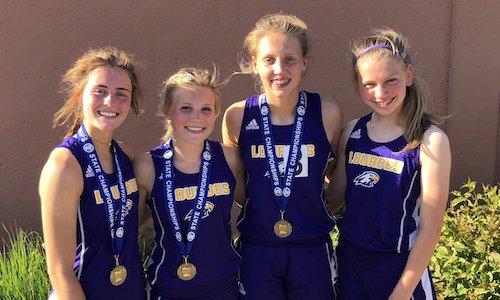 2018-19 MN Track & Field    4X100 Meter Relay   Rochester Lourdes - Sarah Dravis, Belle Horstman, Jade Einertson & CJ Adamson