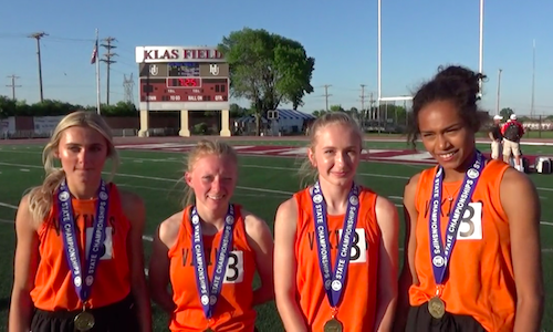 2018-19 MN Track & Field    4X400 Meter Relay   Pelican Rapids - Abby Syverson, Chloe Paulson, Tatianna Wiley & Maddie Guler