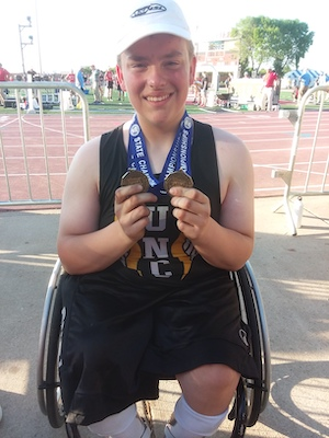 2018-19 MN Track & Field    3200 Meter Dash Wheelchair   Tyler Shepersky  United North Central Warriors