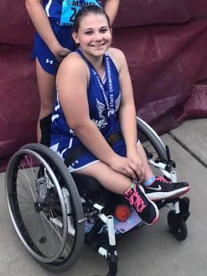 2018-19 MN Track & Field    200 Meter Dash Wheelchair    Lilly Stiernagle    Maple River