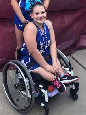 2018-19 MN Track & Field    Discuss Wheelchair    Lilly Stiernagle    Maple River