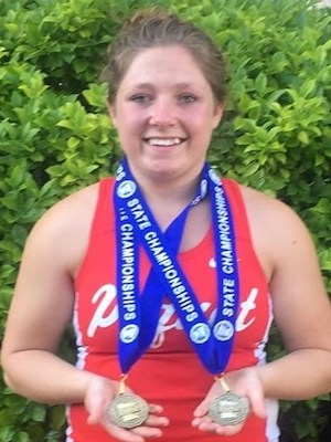 2018-19 MN Track & Field    Discus Throw   Desera Engholm  Pequot Lakes