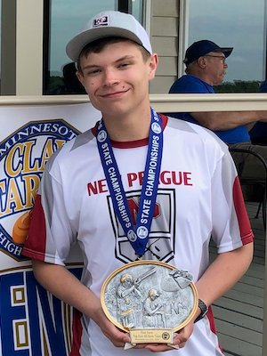 Individual State Champion    Woodrow Glazer    New Prague   Photo credit:  MSHSCTL