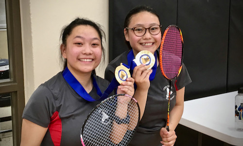 Doubles Champions   Chia Sangwang & Lisa Xiong  St. Paul Central   Photo Credit: Pioneer Press