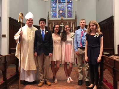 Our 2017 Confirmands with Bishop Stokes on May 21, 2017.