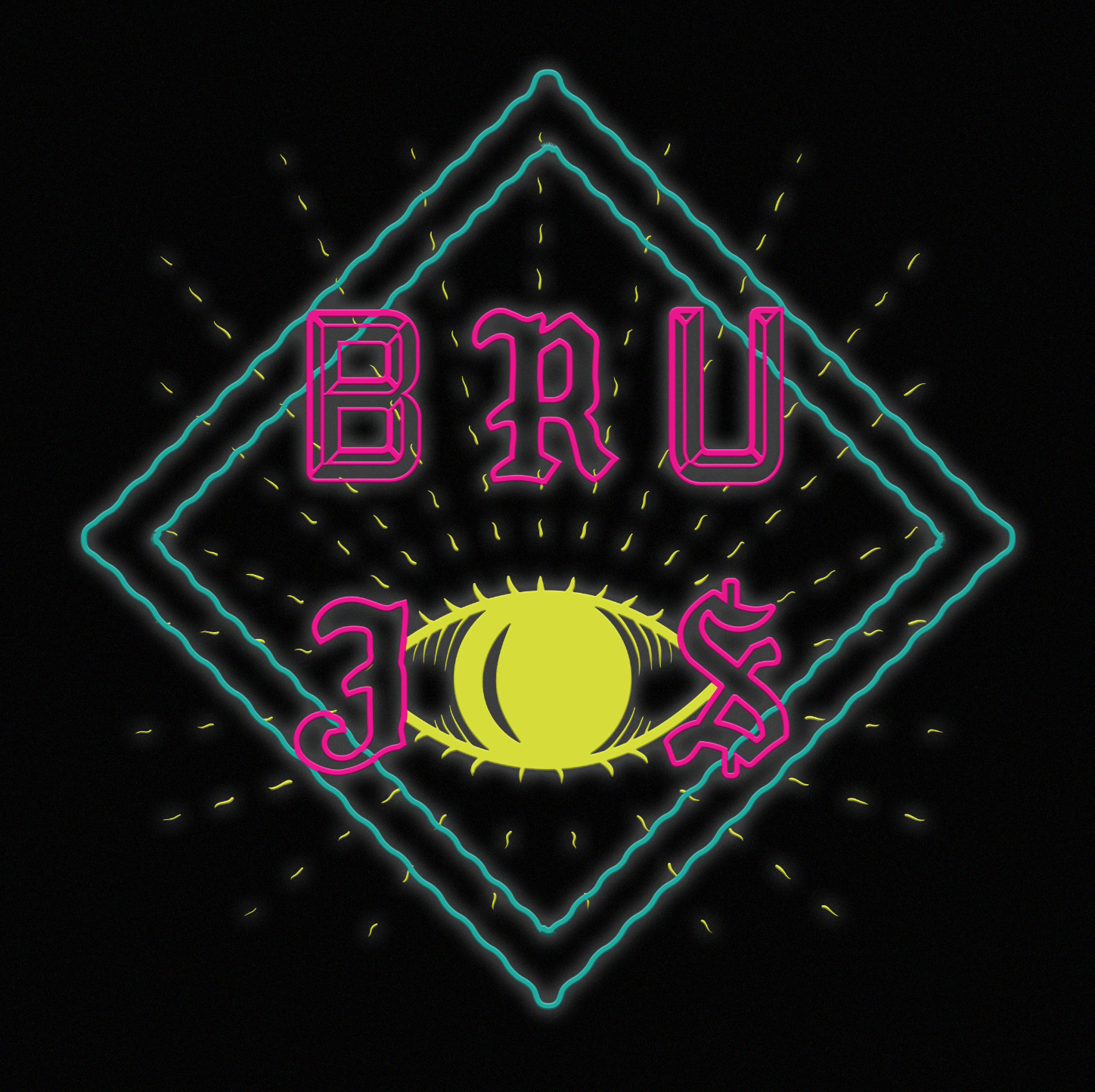 """Branding for Ricardo Gamboa's web series """"BRUJOS""""a web series following four gay Latino grad students that are also witches as they try and survive the semester and a witch-hunt led by a secret society of the straight, wealthy, white male descendants of the first New World colonizers."""