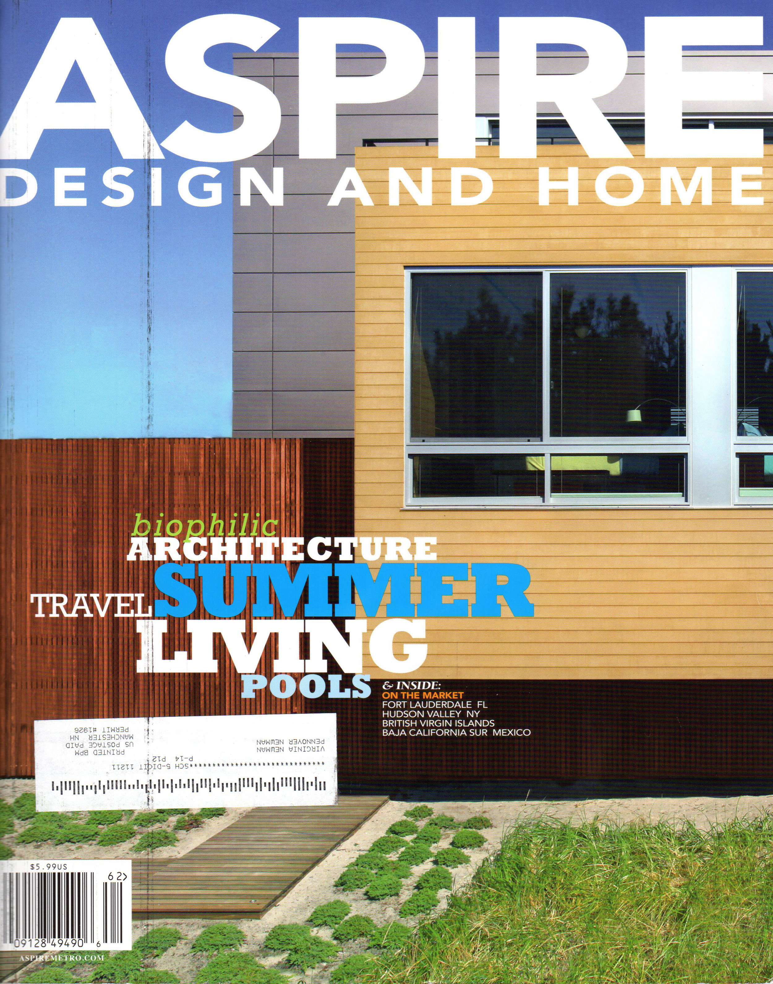 Pennoyer Newman in Aspire Design and Home Magazine