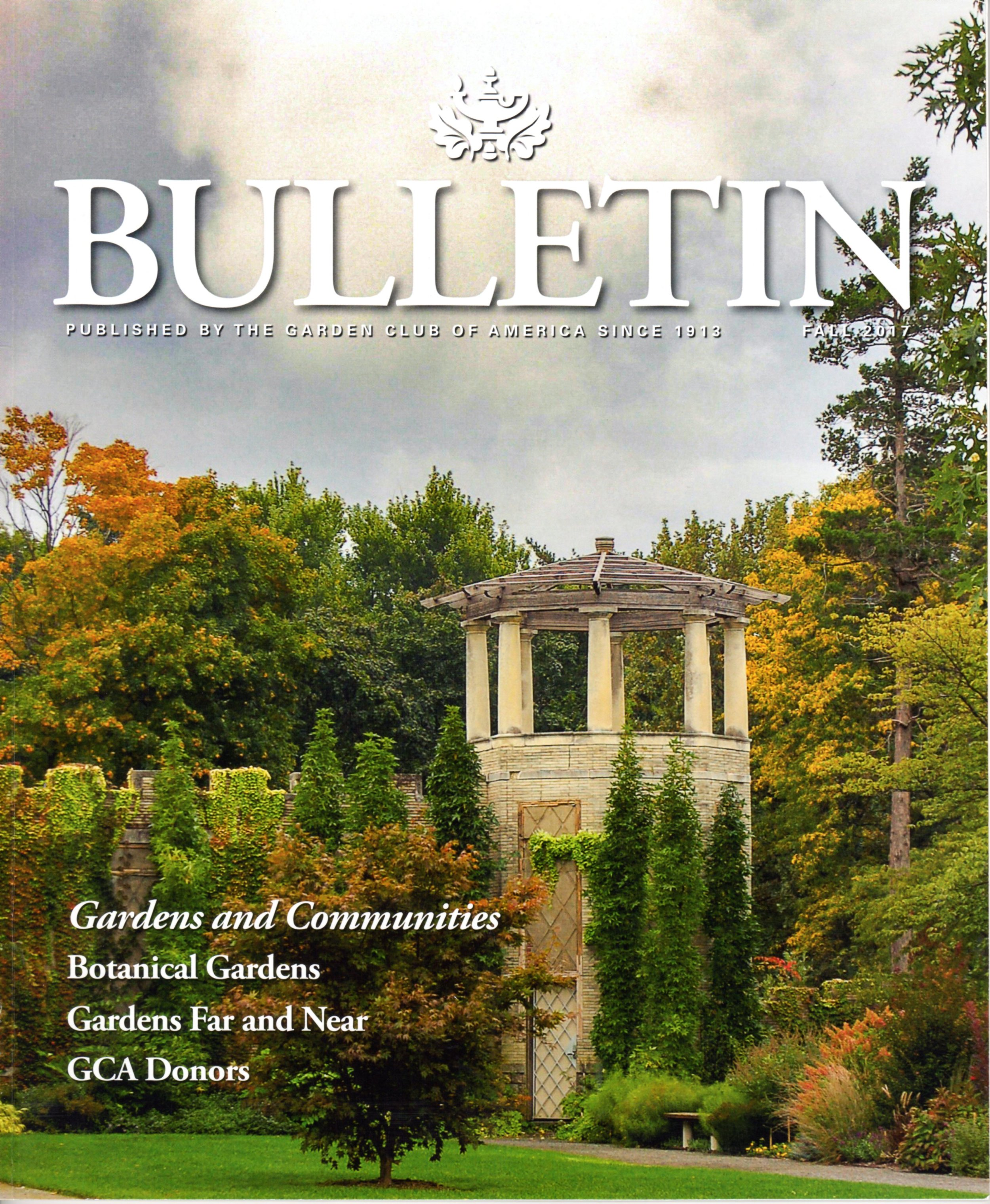 Pennoyer Newman in Garden Club of America Bulletin, Fall 2017