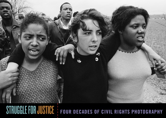 PHOTO: Women sing freedom songs during the Selma to Montgomery march, 1965. Charles L. Moore, Charles L. Moore Photographic Archive.