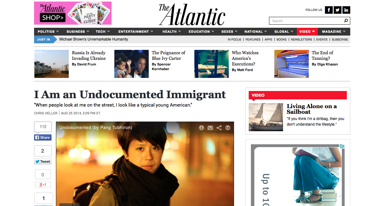 Editor's pick on The Atlantic, August 25, 2014