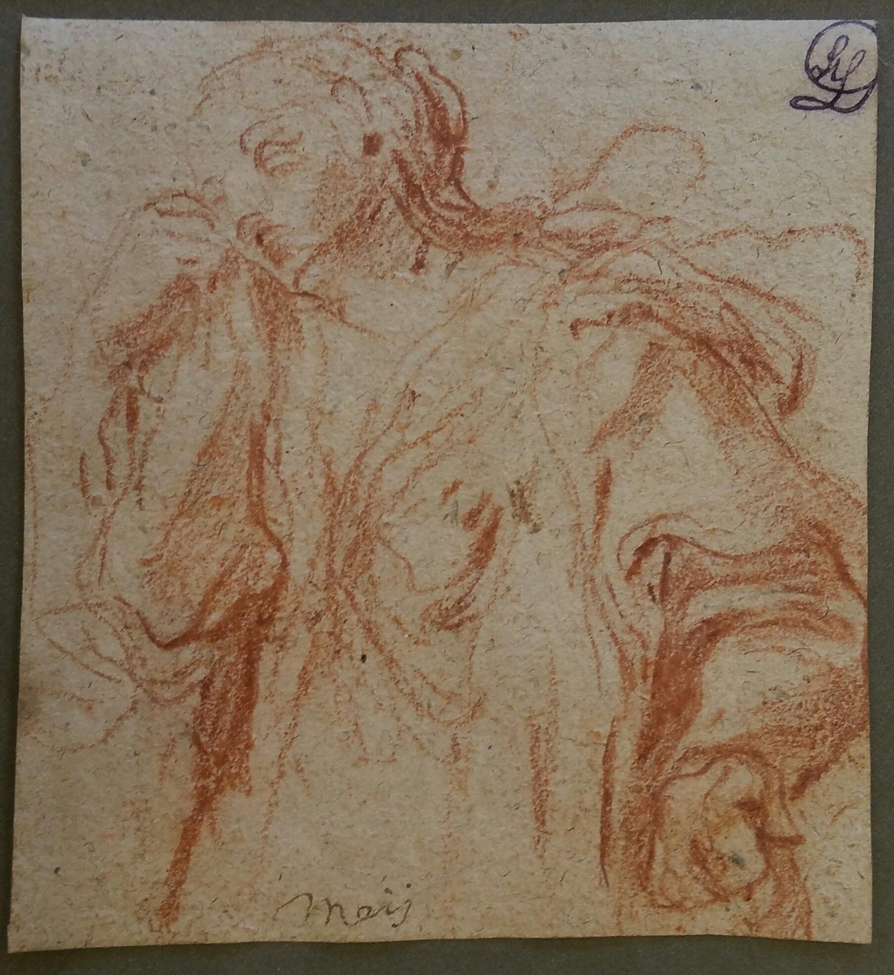 Bernardino Mei,  Weeping Female Figure Turning to the Left
