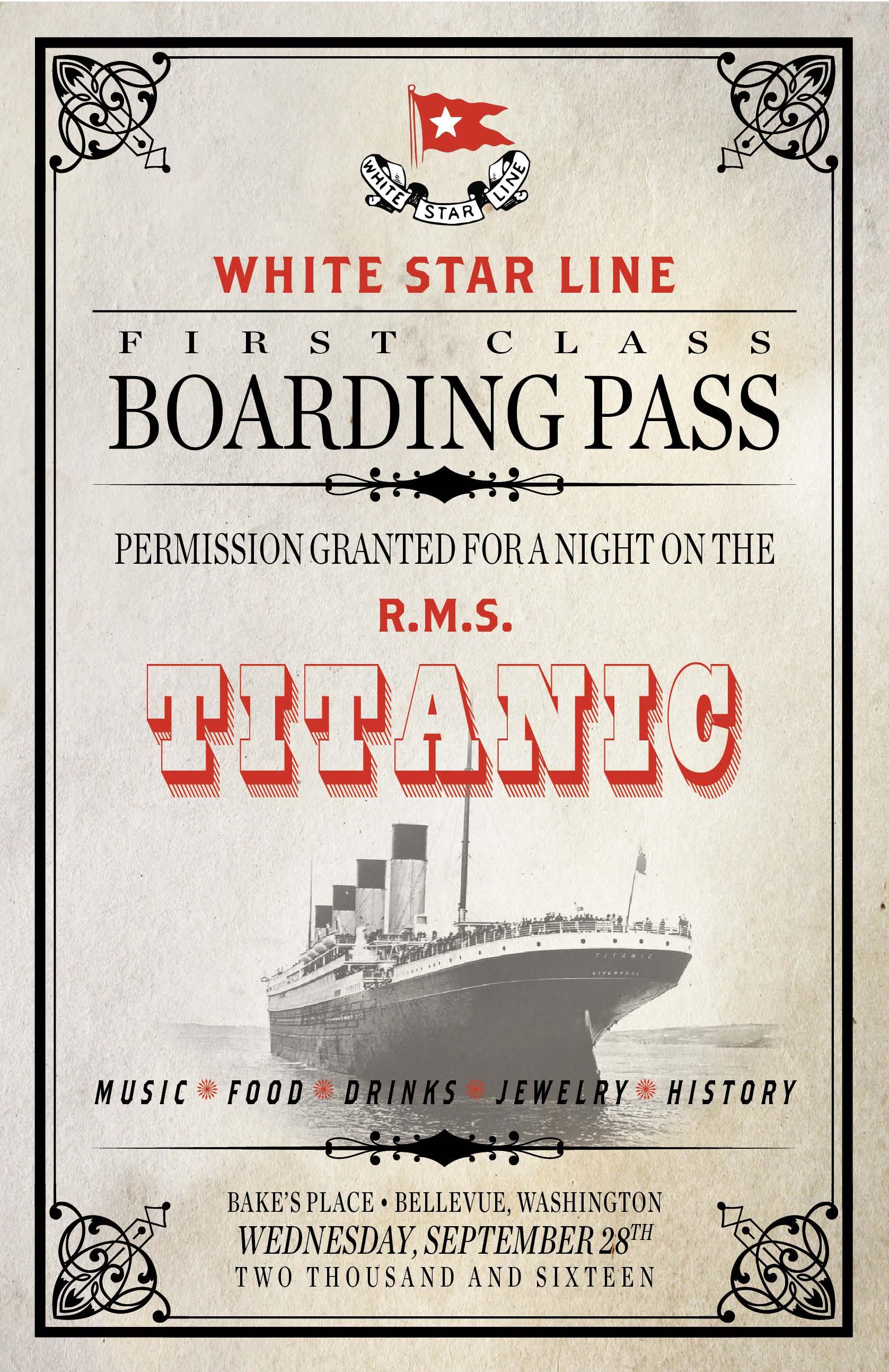 Titanic Event Invitation 2016