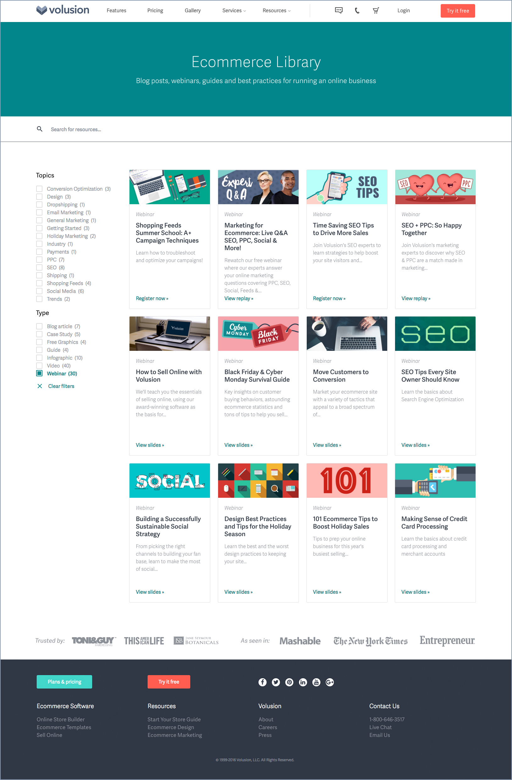 Ecommerce Resource Library