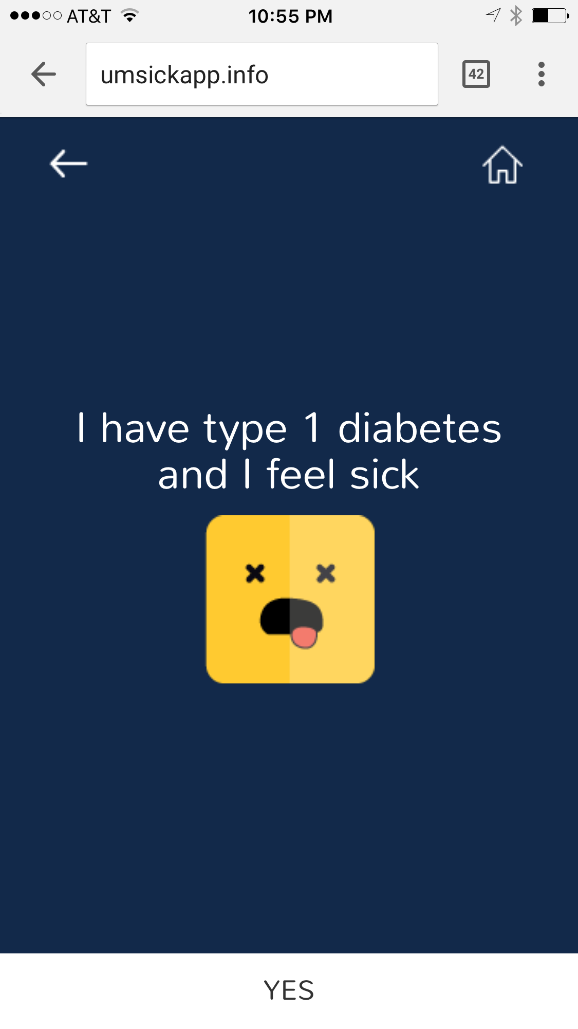 Sick App for Mott Pediatric Diabetes