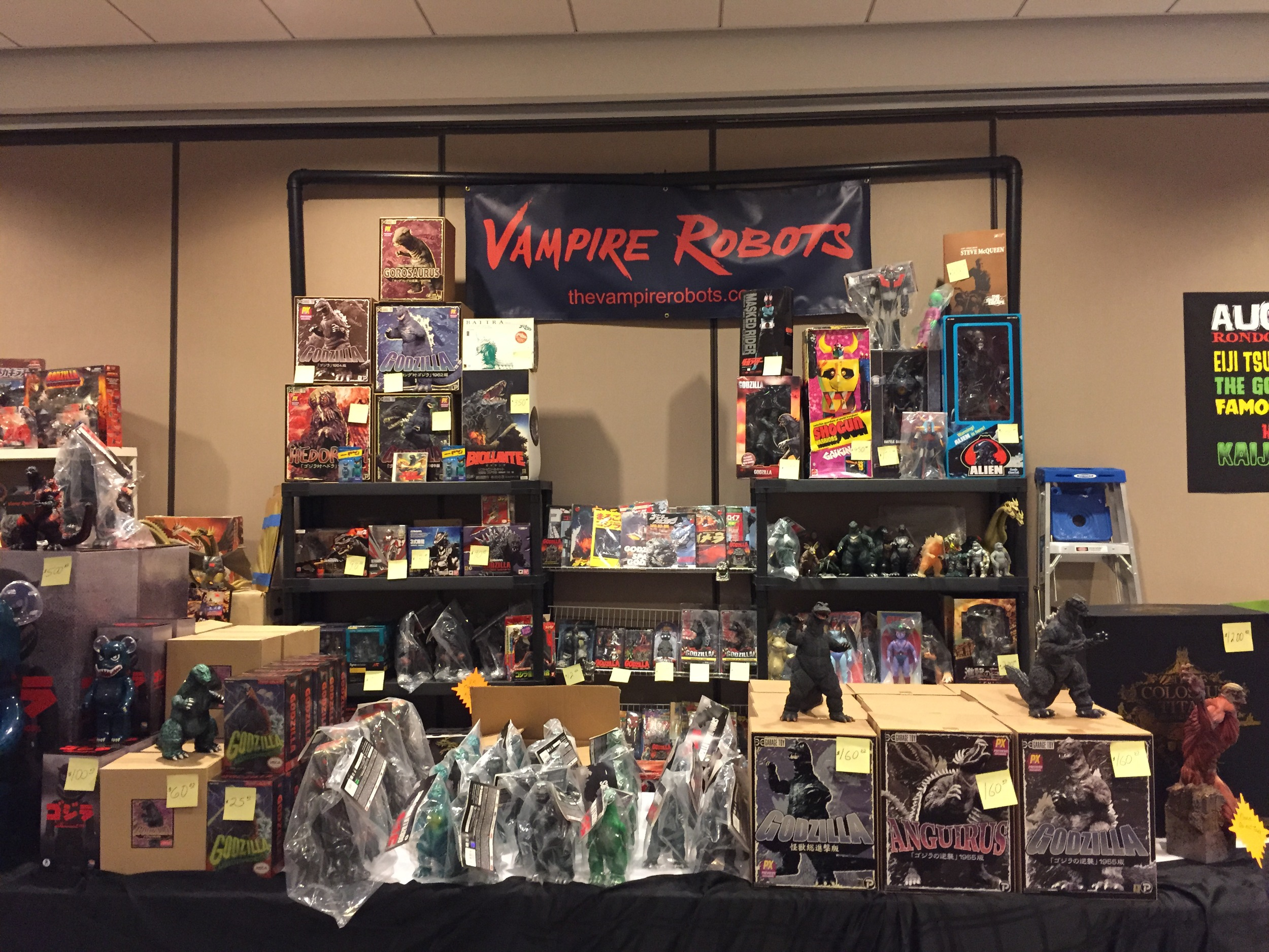 The vampire robots set up at G-Fest XXII in Rosemont IL.