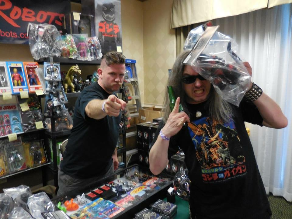 Here's Master Controller Michael with IDW Godzilla artist Jeff Zornow, who had just purchased our exclusive CCP burning godzilla!