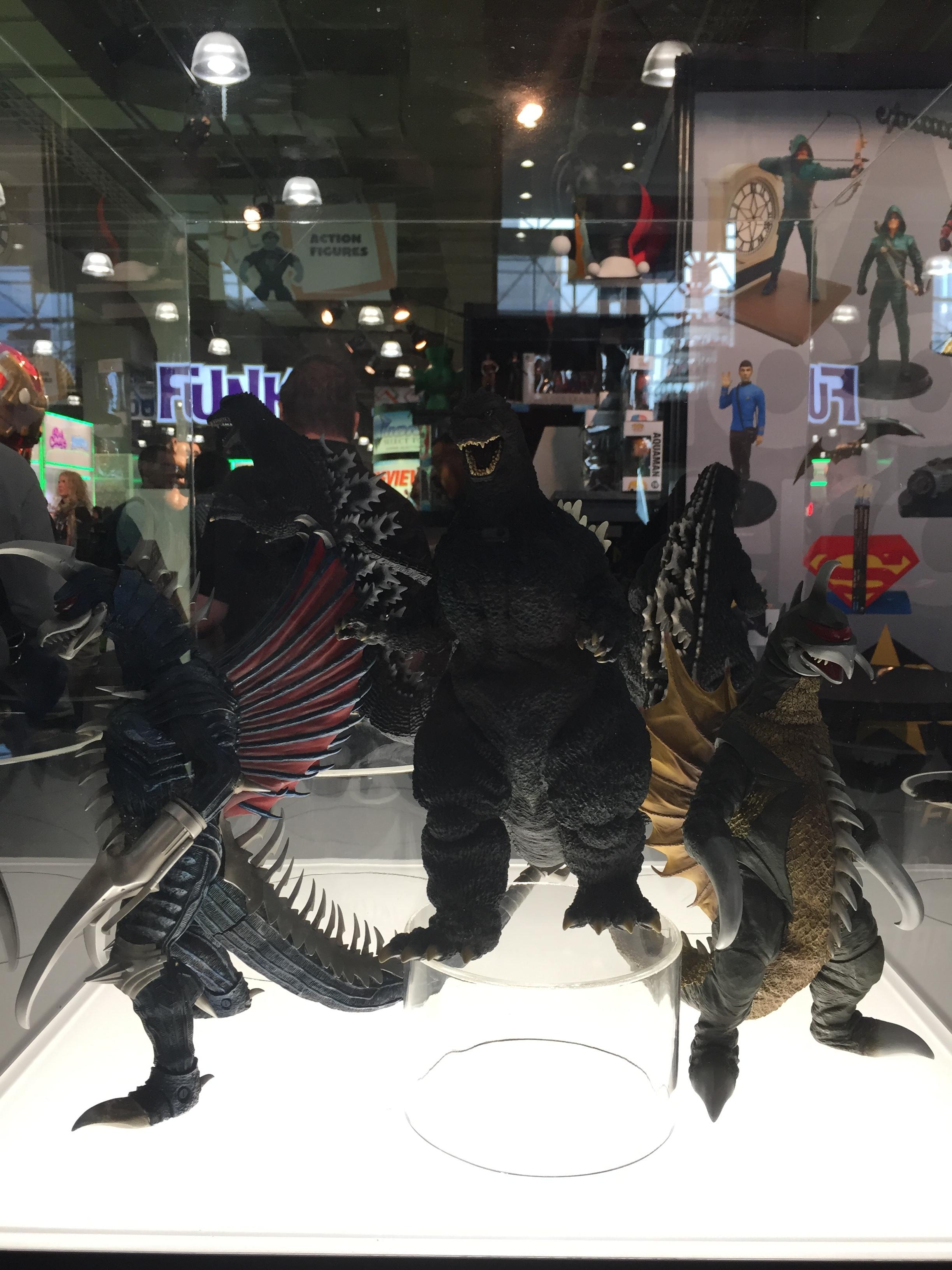 Group shot, Sakai Godzilla'89, FW Gigan, Gigan'72, Godzilla'84, Godzilla'04