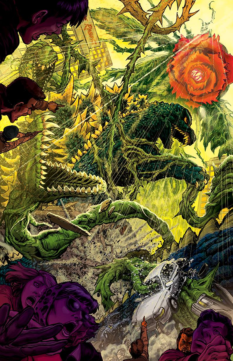 Godzilla: Oblivion #4 cover, art by Jeff Zornow
