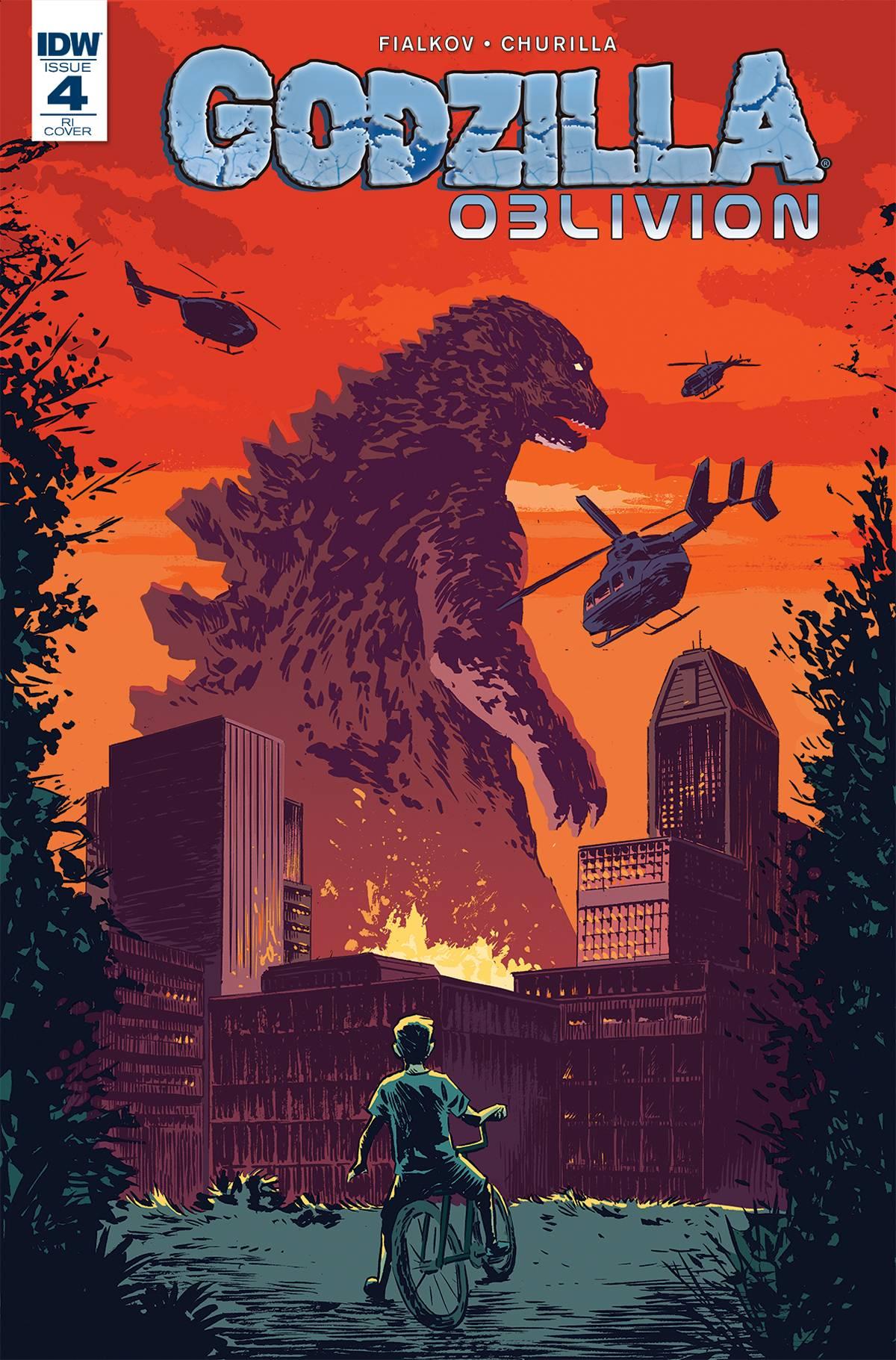 GODZILLA OBLIVION #4 Michael Walsh Variant Cover