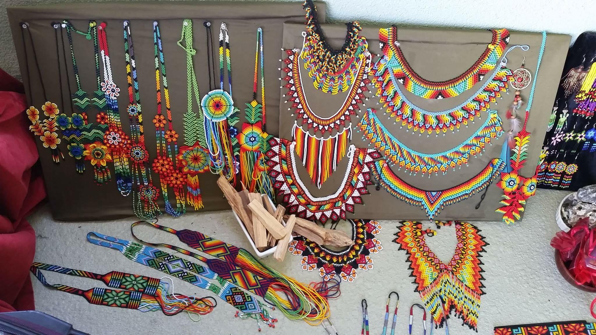 Colombian beadwork jewelry