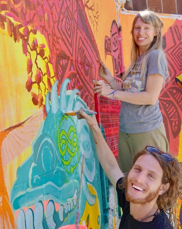 Max Frieder, co founder of Artolution with Brooke Gillespie of Golden Drum
