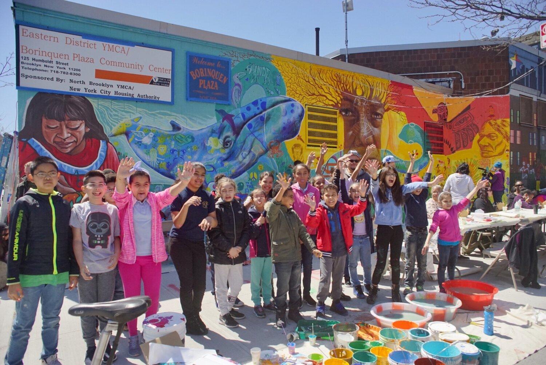 Craig Anthony Miller, public art, community mural, Bushwick, Graham Ave. Business Improvement District
