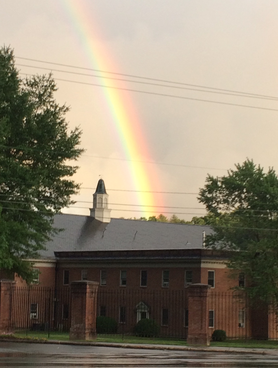Momentarily, it appeared that the pot of gold was hiding on the campus of Brevard College.