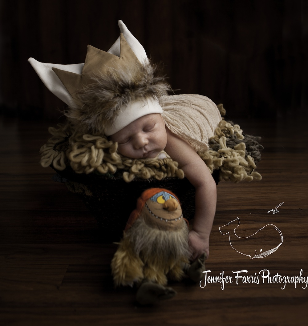 Where the Wild Things Are Themed Newborn Photo Session with Sipi | Jennifer Farris Photography | as seen on GiggleHearts.com