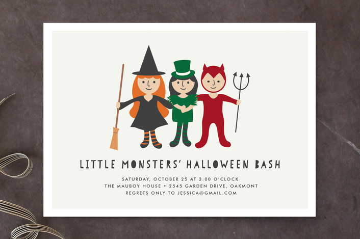 Little Monsters' Bash Holiday Party Invitations | as seen on www.GiggleHearts.com